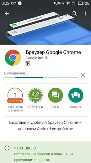 Бесплатная Android версия самого популярного браузера Google Chrome